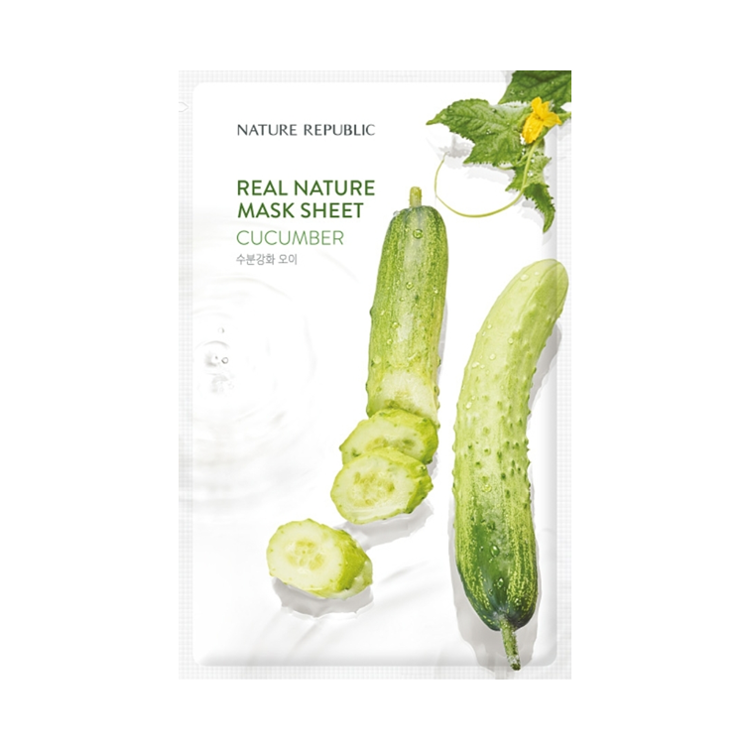 Picture of NATURE REPUBLIC Real Nature Mask Sheet -Cucumber