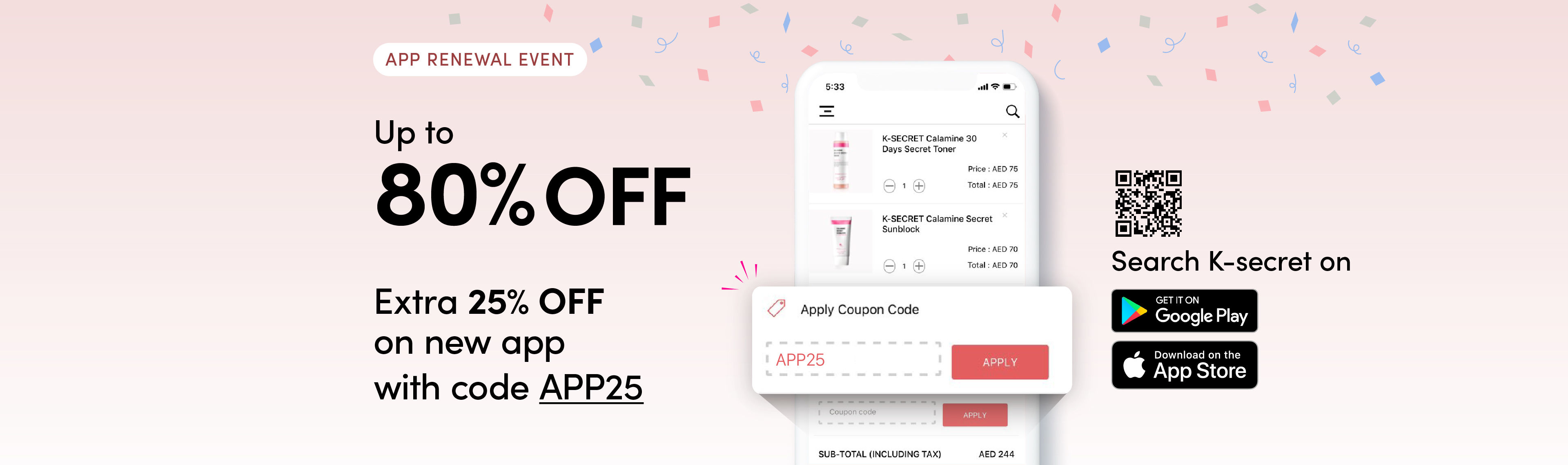 K beauty Skincare Offer