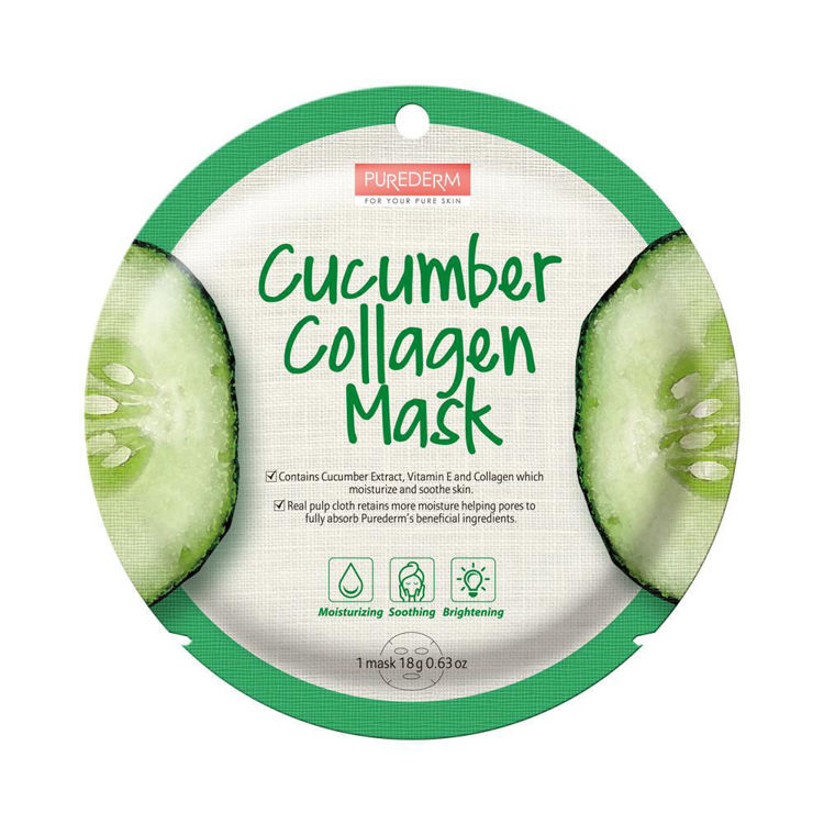 Picture of [BUY 10 GET 10 FREE] COLLAGEN CUCUMBER CIRCLE MASK