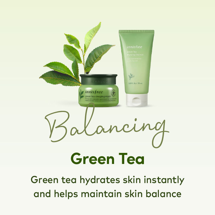 K Beauty Green Tea Skincare Products