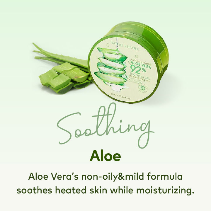 k beauty Aloe Soothing Products